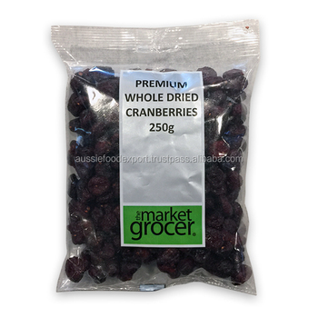 Market Grocer Dried Cranberry 250g packed in Australia