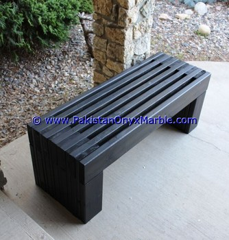 Attrayant FINE QUALITY MARBLE BENCHES TABLE NATURAL STONE HANDCARVED GARDEN FURNITURE  OUTDOOR JET BLACK