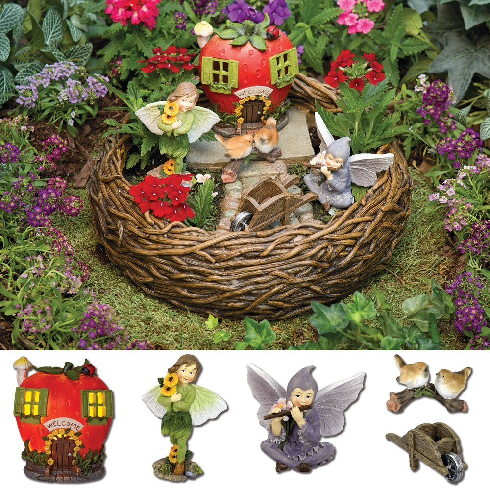 Napco Whimsical Fairies On Turtle and Snail 3 x 4.25 Resin Garden Figurines Set of 2