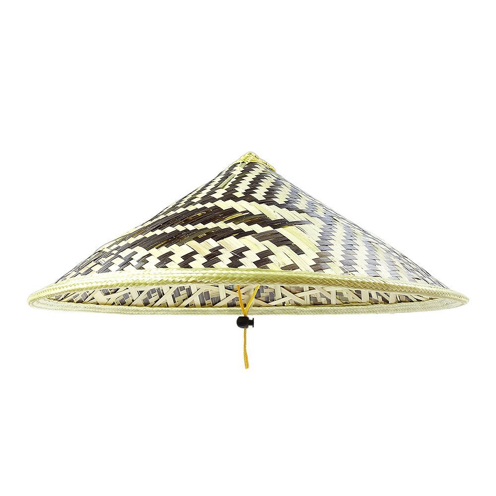 4d0a3631500855 Get Quotations · Sunnyhill(TM) Chinese Oriental Bamboo Straw Cone Garden  Fishing Hat Adult Rice Hat