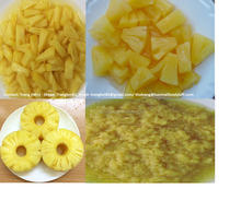 VIETNAM CANNED PINEAPPLE SLICES IN LIGHT SYRUP - CANNED PINEAPPLE PIECES IN LIGHT SYRUP/ NATURAL JUICE