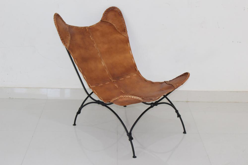 2017 Nuevo Diseño De Cuero Silla Mariposa Vintage Metal Hierro Marco ...