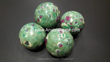 Mix Gemstone Sphere / Ruby in Fuchsite / lapis Lazuli / Soda Lite / Crystals /Rose Quartz / Chakra Bonded