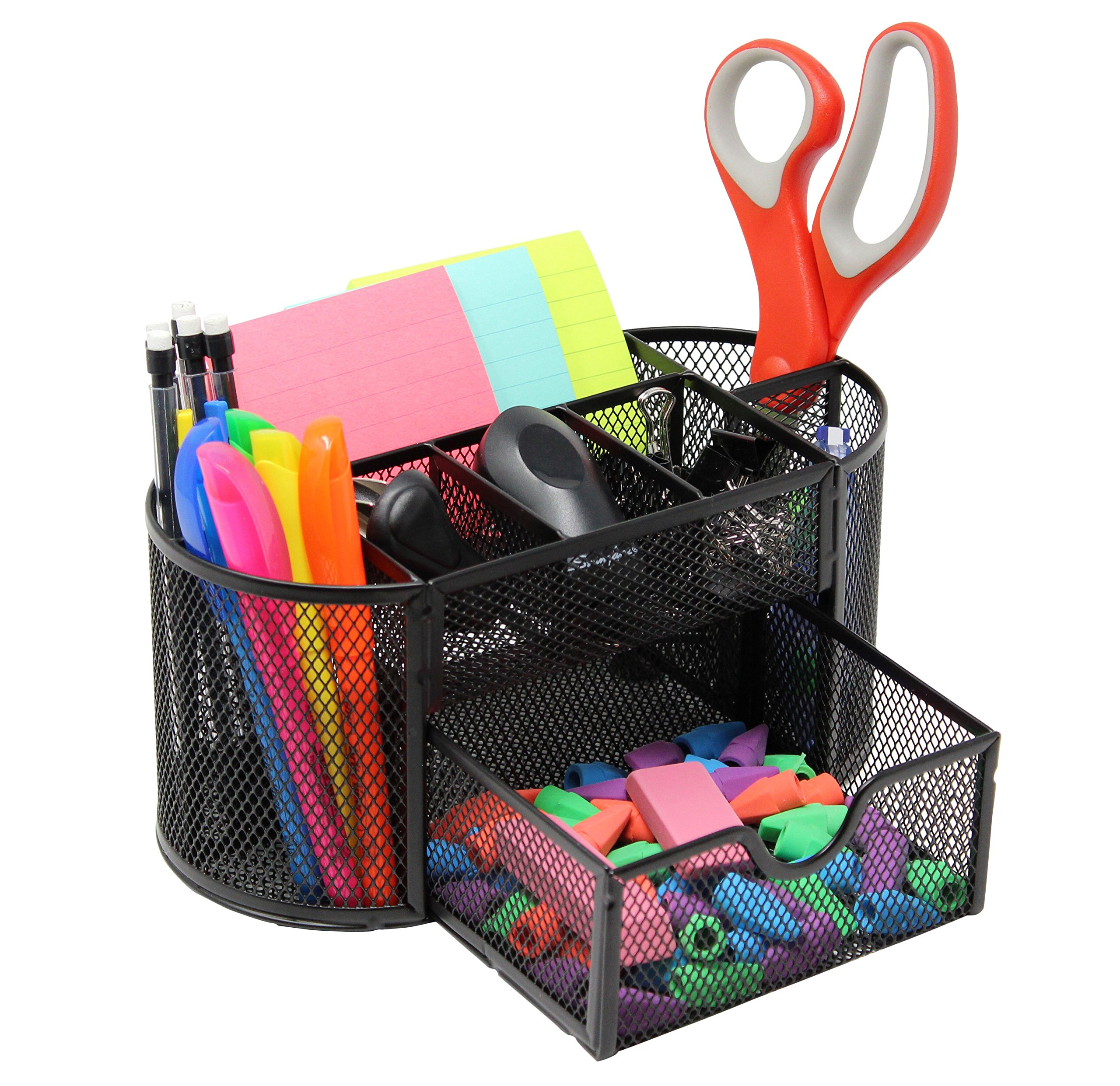 Get Quotations Mesh Desk Organizer Caddy For Office Supplies And Accessories Black