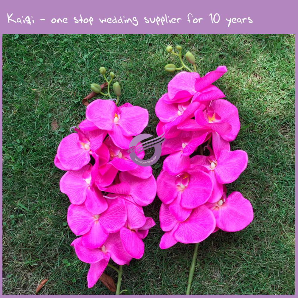 Rh00970 Hot Pink Wedding Table Artificial Flowers Butterfly Orchid