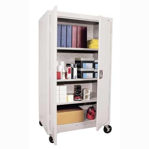 Sandusky Lee TA3R362460-05 Transport Series Mobile Storage Cabinet, Dove Gray