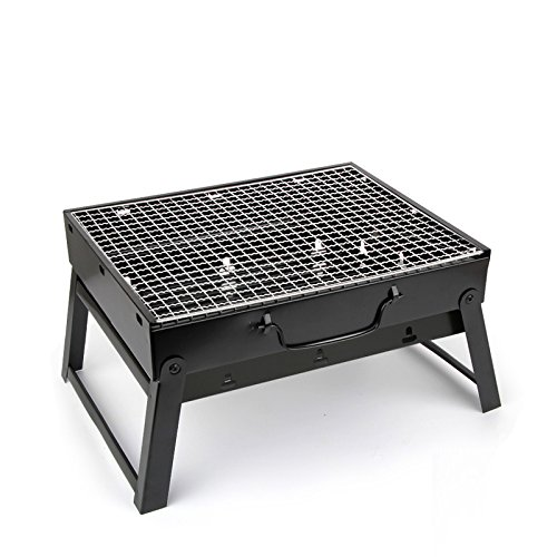 Get Quotations Olym Portable Outdoor Stainless Steel Grill Removable Compact Barbecue Folding Mini 10 Inch