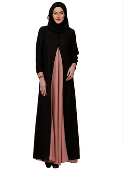 Dubai Abaya Dress Pretty Pink Layered Abaya Muslim Dress Islamic Clothing