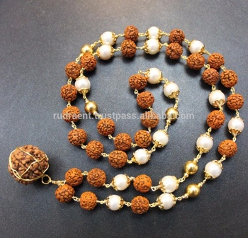 Rudraksha Pearl Mala Gold Wire Pearl Necklace Buy Latest