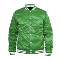 Custom Man Bomber Customized Satin Jacket Baseball Made Man Custom Varsity
