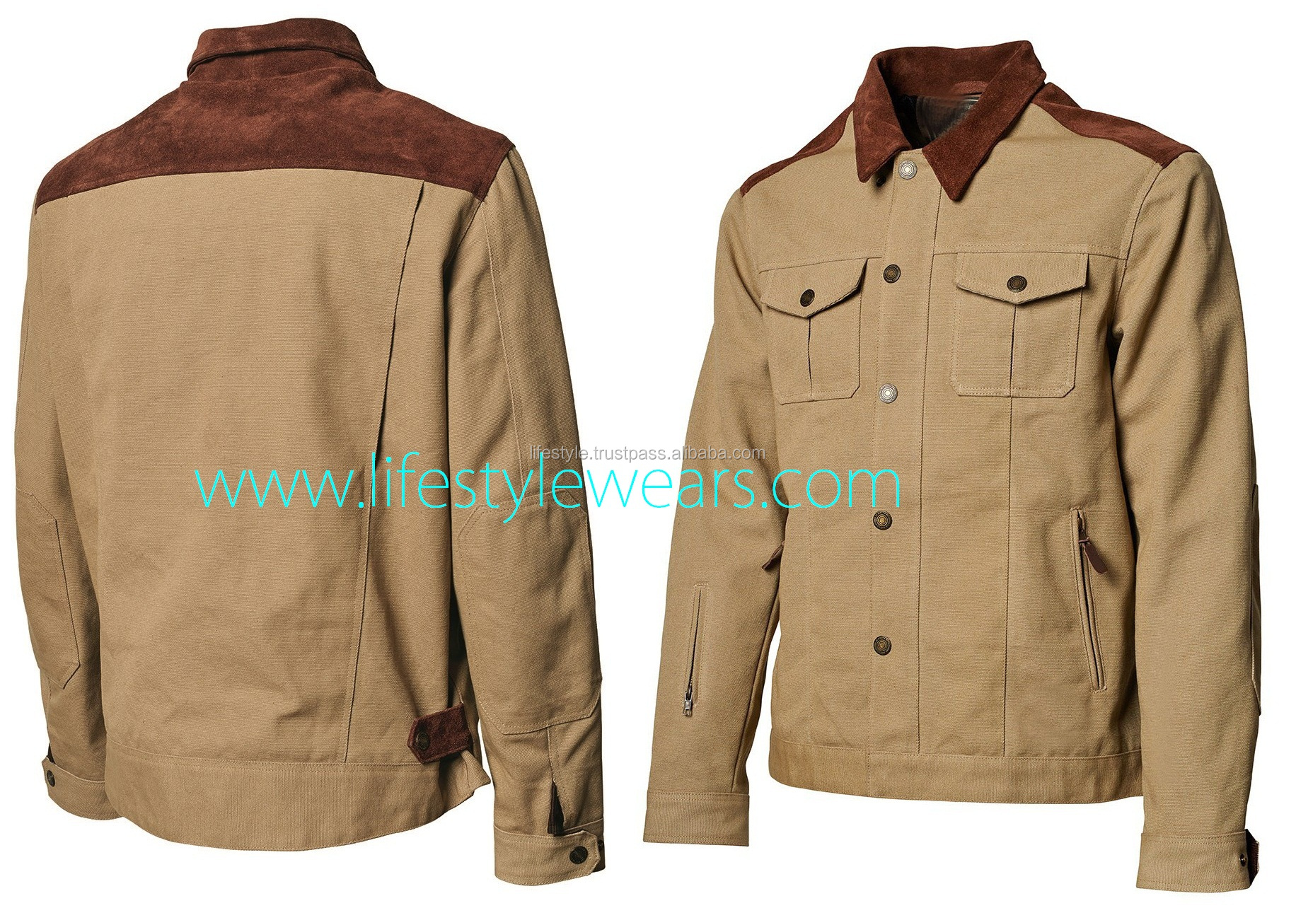 ผ้าใบธรรมดาแจ็คเก็ตคลุมด้วยผ้าแจ็คเก็ตผ้าใบ