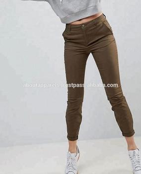 Caqui Alta Mujer Bonvatt Pantalón Mujeres Con Buy De Pantalones En Pitillo Chino Las Cintura CWeorxdB