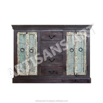 the best attitude aec4e 07f6b Vintage Old Windows Used Antique Handmade Sideboard,Indian Antique  Reproduction Furniture Sideboard Suppliers And Manufacturer - Buy Original  Antique ...