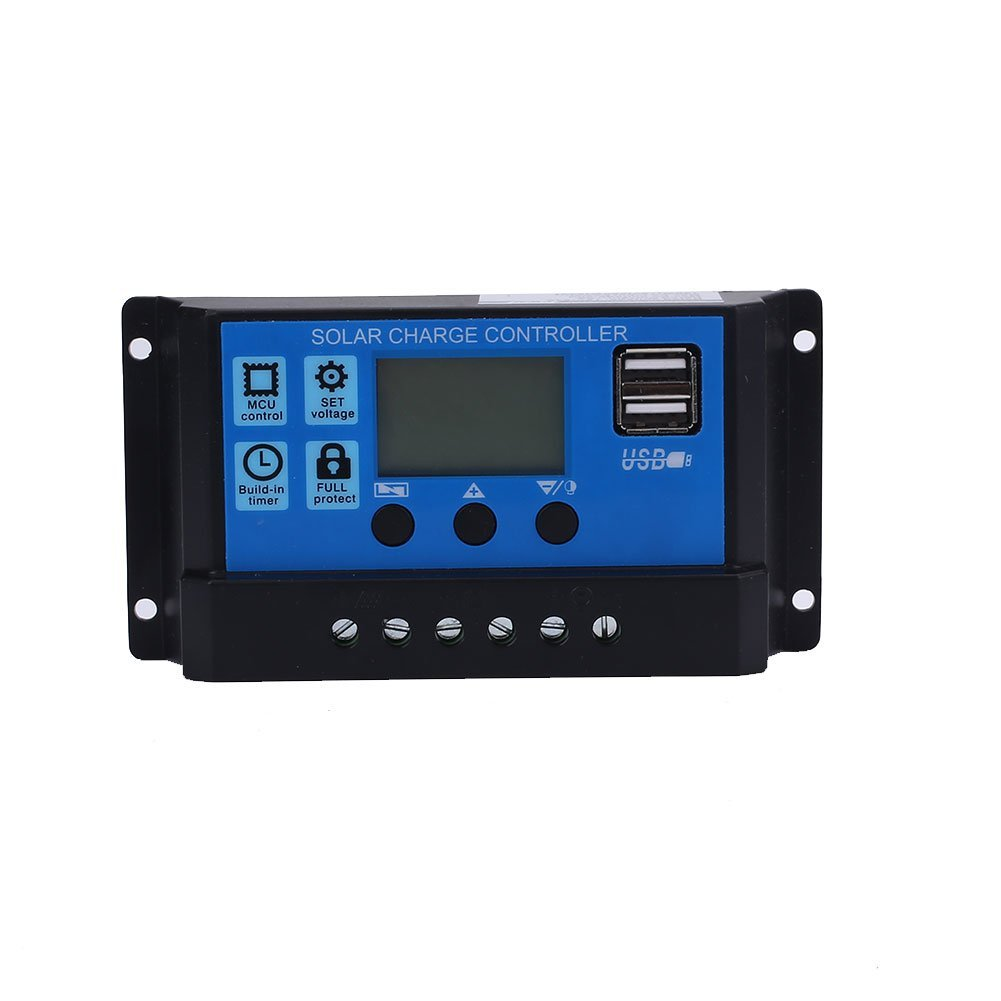 Haihuic 10A USB LCD Solar Panel Battery Regulator Charge Intelligent Controller