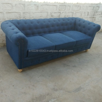 Industrial Denim Three Seater Chesterfield Sofa,Vintage Denim Three Seater  Sofa - Buy Blue Chesterfield Sofa,3 Seater Sofa,Cheap Chesterfield Sofa ...