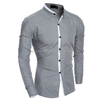 2018 fall Men's Dress Shirts Solid Casual Shirt Men Slim Fit Plus Size Long sleeve Stylish