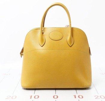 40d9c51593c Used brand designer HERMES Borido 37 Yellow Leather Handbags for bulk sale.
