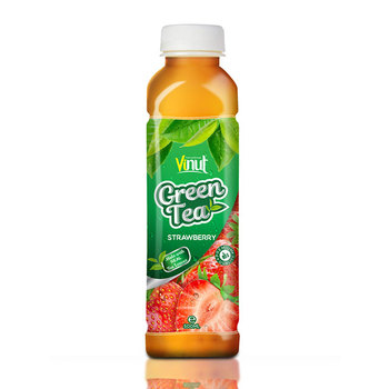 500ml Real Green Tea with Strawberry juice in Pet bottle