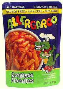 Allergy Friendly Foods Allergaroo Gluten-Free Spyglass Noodles with Tomato Sauce