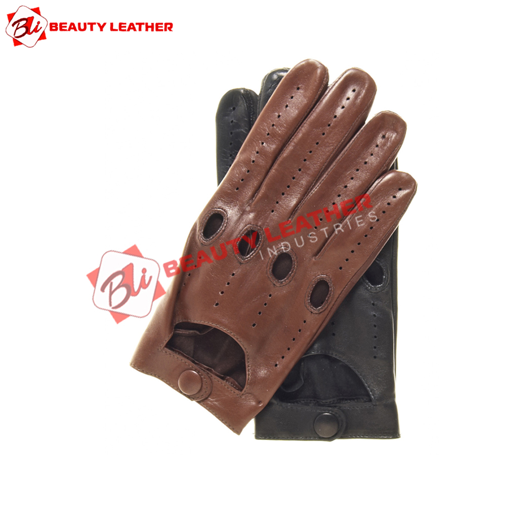 Ladies PU leather driving gloves