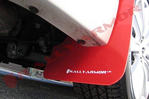 Rally Armor 08-10 WRX (hatch & sedan) / 08-11 Subaru 2.5i UR Red Mud Flap w/ White Logo
