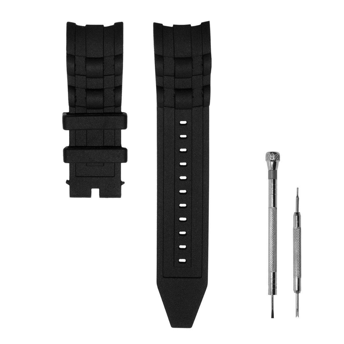 CACA for Invicta Pro Diver Watch Replacement Rubber Silicone Band/Strap - Black Invicta Watch Bands
