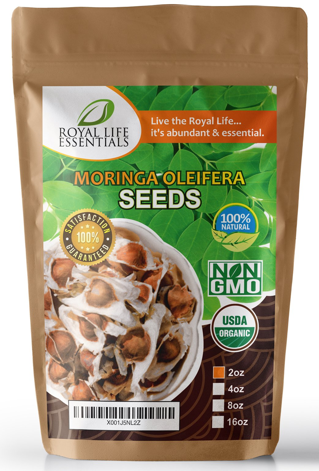 Seeds - Moringa Oleifera USDA Certified Organic Seed - (2oz) Moringa Trees are Great Indoor & Outdoor Gardening The Miracle Tree for Superfood: Make Tea, Powder, Oil, Herbal Supplements