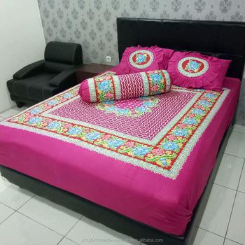 Lovely 100% Cotton Fabric For Bed Sheets Batik Indonesia Kelir Motive Belut  Printed Sheets