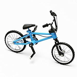 Shopline Finger Mountain Bike Toy, Creative Simulation Bicycle Toy Model, Gift Workmanship for Boys Kids Children / Blue