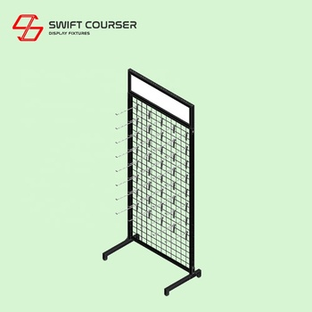 Iron gridwall panel grid mesh counter display
