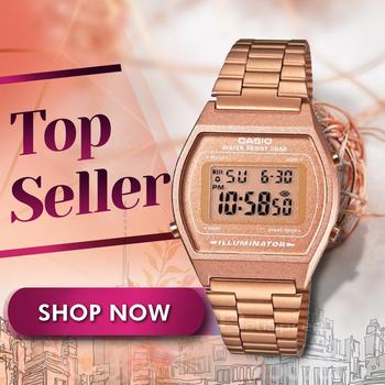 3215e8bb6aad  Auténtico reloj CASIO  CASIO VINTAGE B640WC   oro rosa de acero inoxidable  reloj de