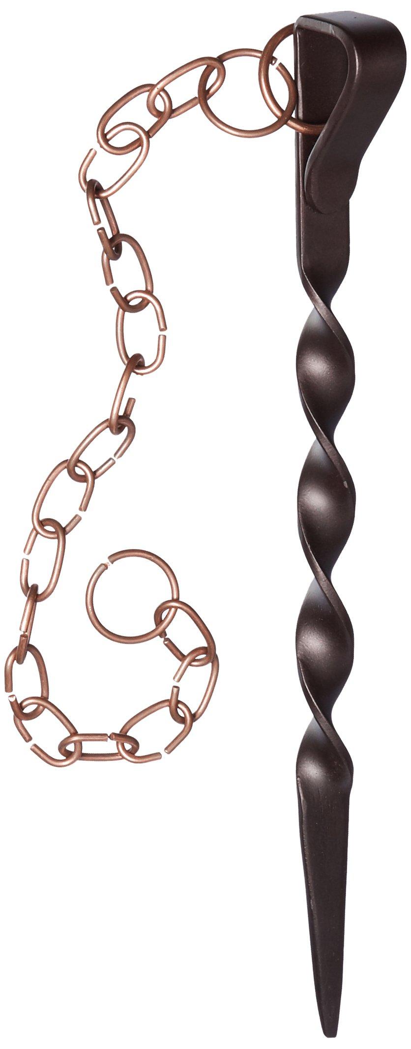 Monarch Rain Chains Powder Coated Iron Rain Chain Anchoring Stake, Brown/Copper