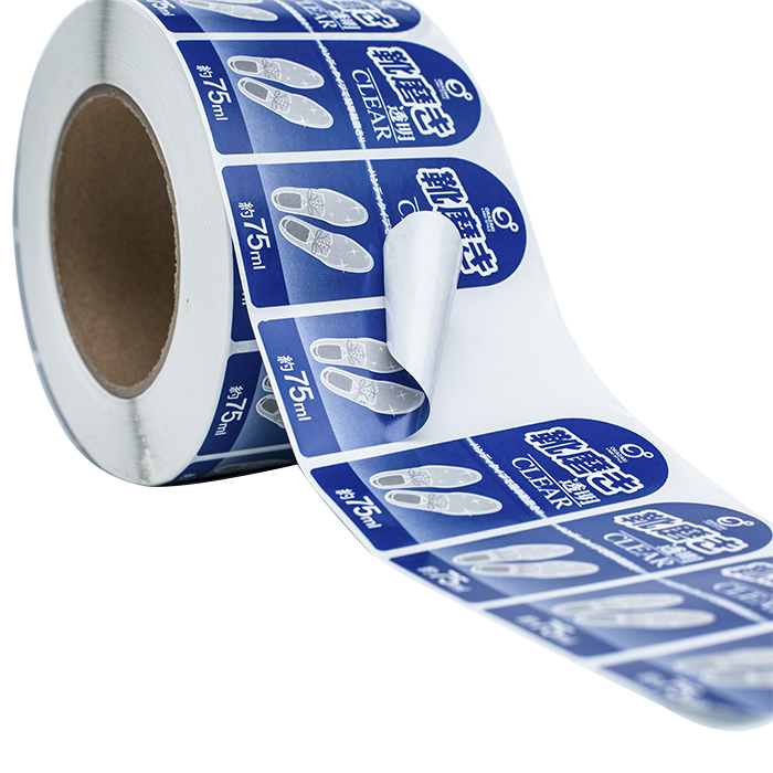 roll bopp label adhesive shoe polishes packaging stickers