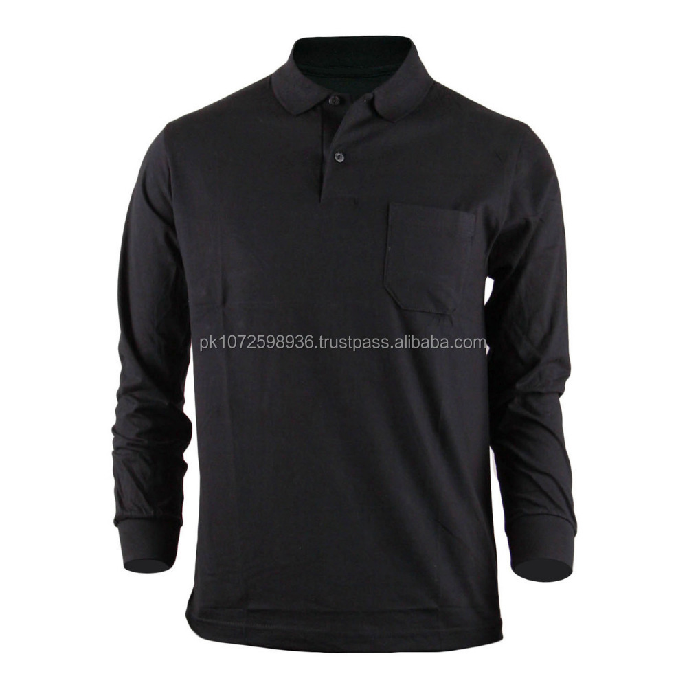 Men Slim Fit Golf Sports Polo Shirts With Pocket