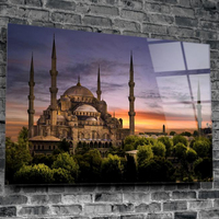Uv Printed Stylish Glass Wall Art