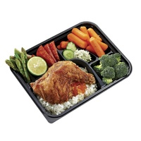 Made In Taiwan Food Container Disposable Take Away Plastic Bento Lunch Box