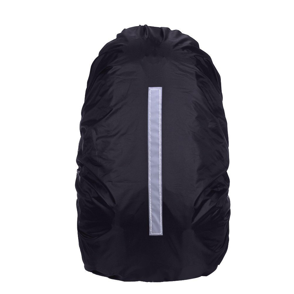 Outdoors Hiking Yellow High Visibility Bag Cover Hi Vis Rain Cover Weather Protection for Cycling Navaris Reflective Waterproof Backpack Cover