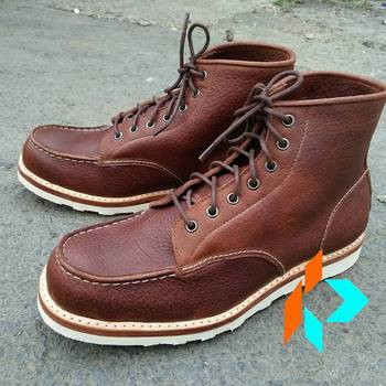Kualitas terbaik Harga Terbaik Pria Kulit Asli Boots Warna Derby 7 Lubang  Coklat Disesuaikan Bespoke Handmade e941558961