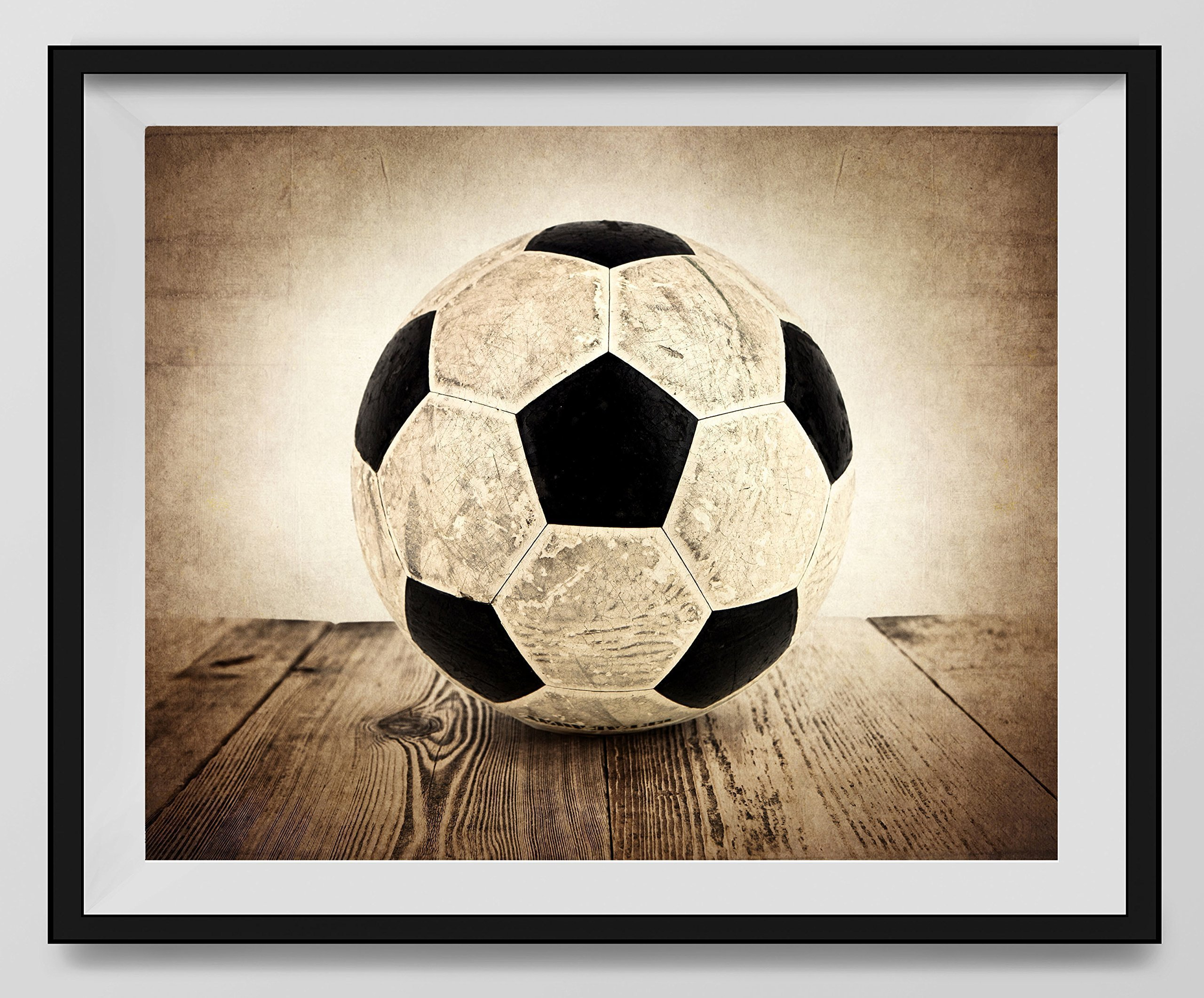 Get Quotations Vintage Soccer Ball On Background Fine Art Photography Print Sports Decor Nursery