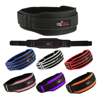 Eco Friendly Weight lifting Gym belts Neoprene GEL Back Support Straps Wraps Waist Fit OEM Service