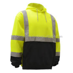 Work wear Fleece jacket men wear, construction safety uniform 100% cotton 160-180 gsm for winter printing and embroidery logo