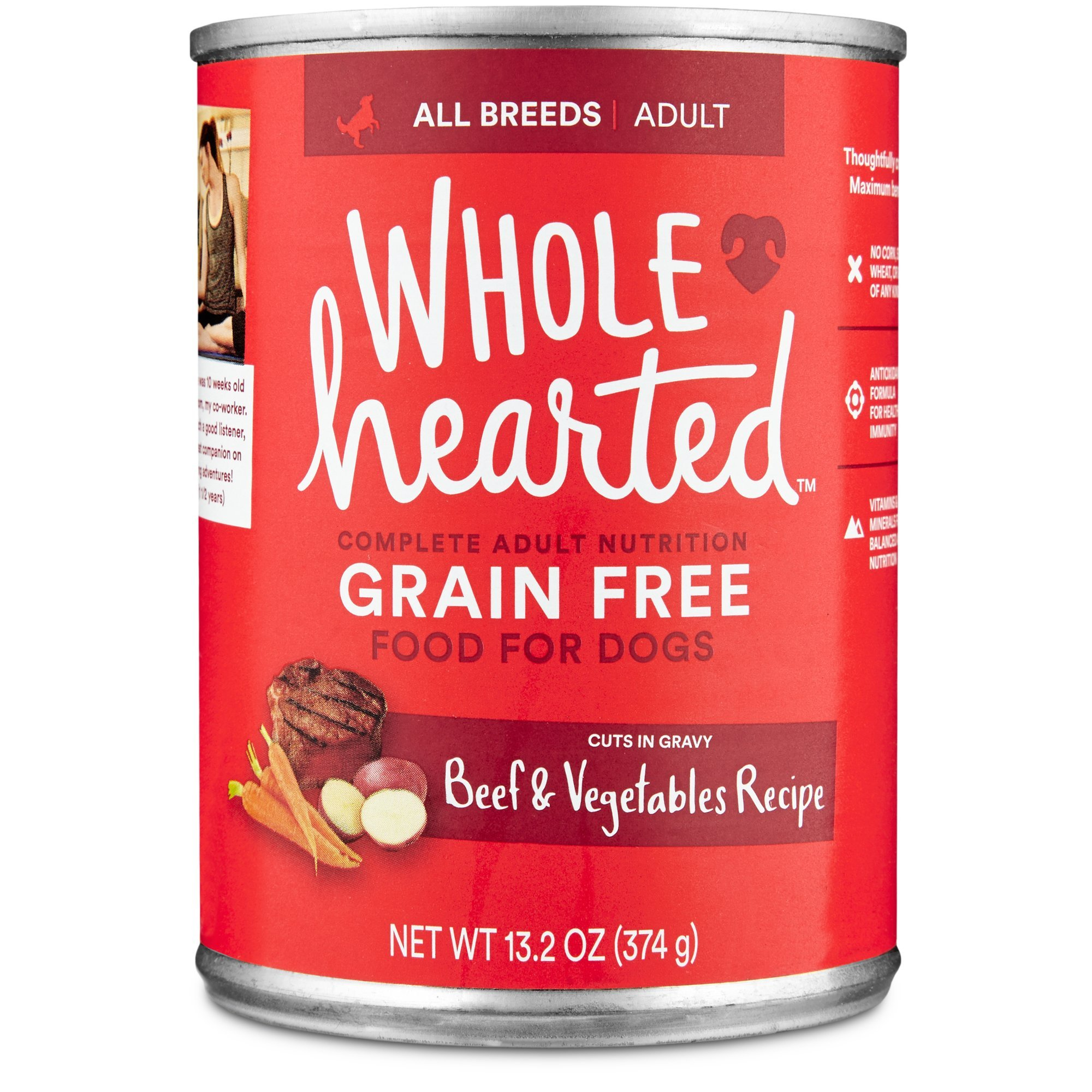 WholeHearted Grain Free Adult Beef Vegetable Recipe Wet Dog Food