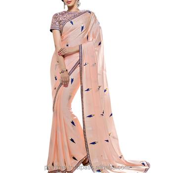 6d37c5c375 Designer Silk & Georgette Saree - Buy Blouse Design Silk Saree ...