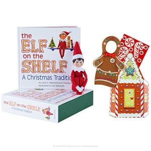 The Authentic Elf on the Shelf Boy Light with Gingerbread Costume