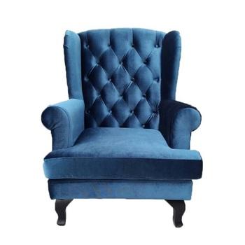 High Back Velvet Wing Lounge Chair