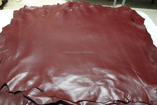 Goatskin strong leather skin hide skins hides JET WINE BORDEAUX IM.3253 raw leather for leather goods, leather belt, leather