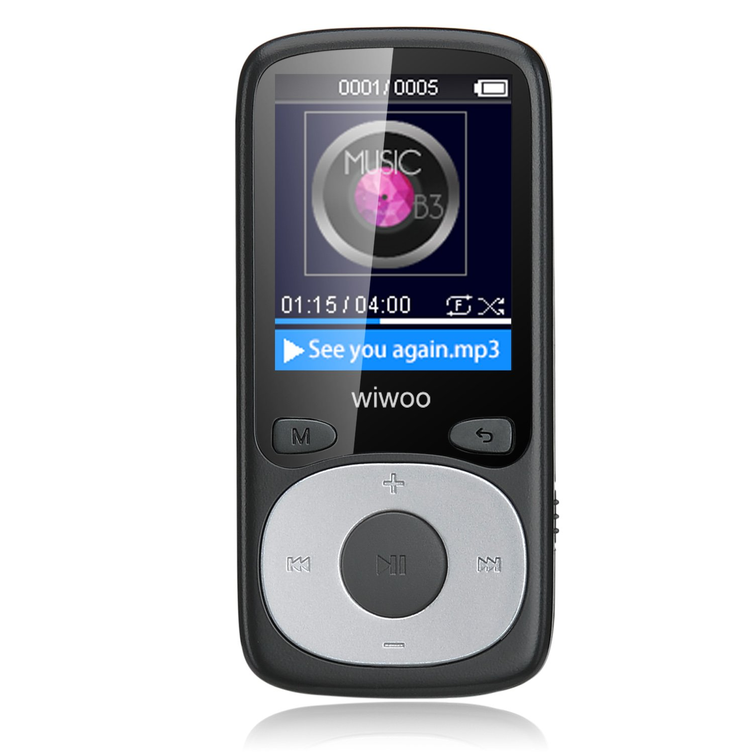 8G MP3 Music Player, 1.8 Inch Portable Audio Player with FM Radio/ Voice Recording, Support up to 64 GB Micro SD Card