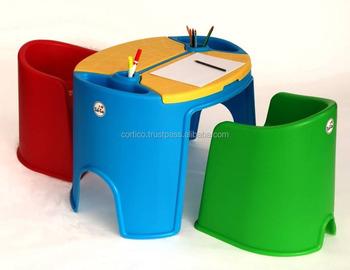 Plastic Stoel Kind : Veiligheid kids tafel en stoel set kind studie plastic stoelen en