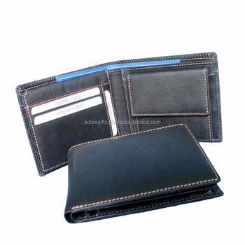 5364f268a2ae Пользовательские кожаные кошельки для мужчин/тонкий кожаный бумажник/дешевые  мужские кошельки оптом в черный