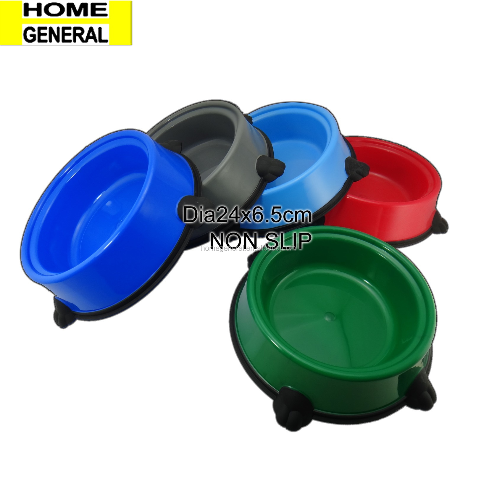 PET GENERAL NON SLIP PET FEEDING BOWL ROUND DOG BOWL CAT BOWL